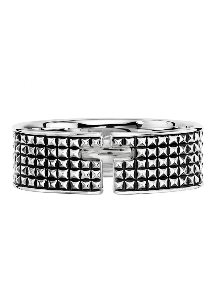 CAI Ring 925/- Sterling Silber geschwärzt, Silbergrau