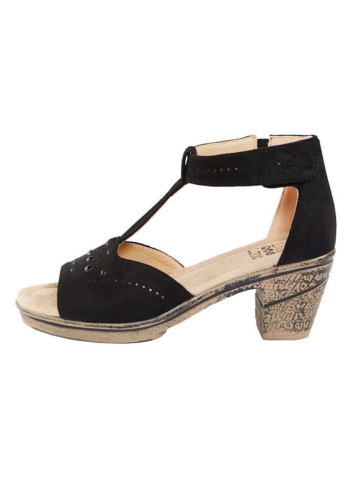 Sandále s remienkom so suchým zipsom na päte