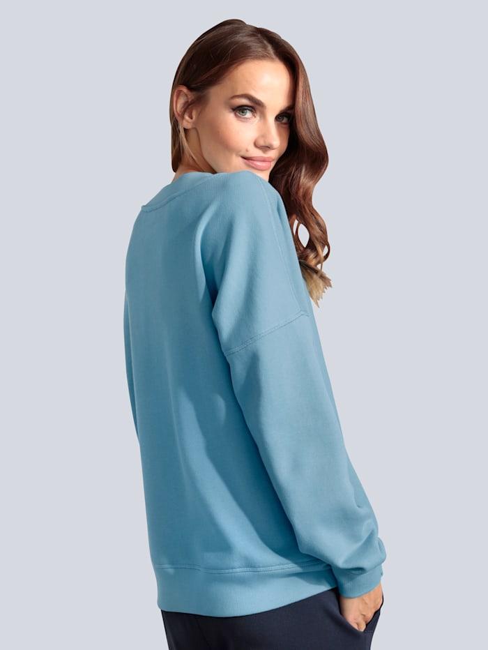 Sweatshirt mit Rippblende