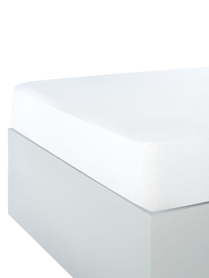 Webschatz Jersey Spannbettlaken im 2er-Pack, weiß