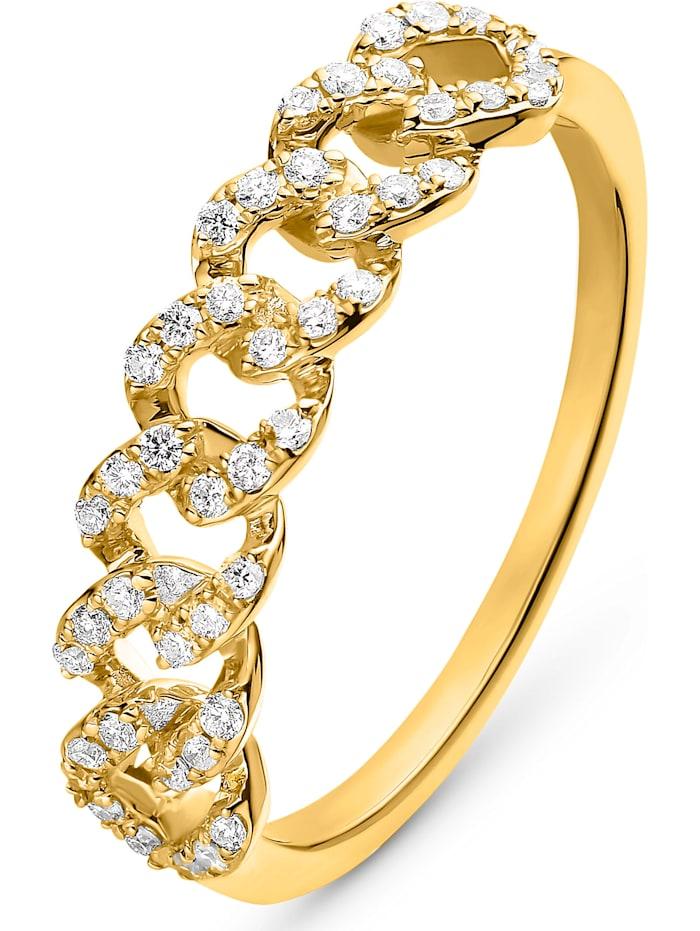 CHRIST C-Collection CHRIST Damen-Damenring 585er Gelbgold 46 Diamant, gelbgold