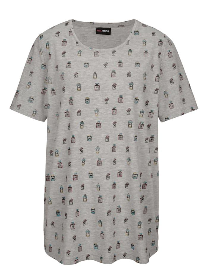 Shirt mit Flakonmotiven bedruckt