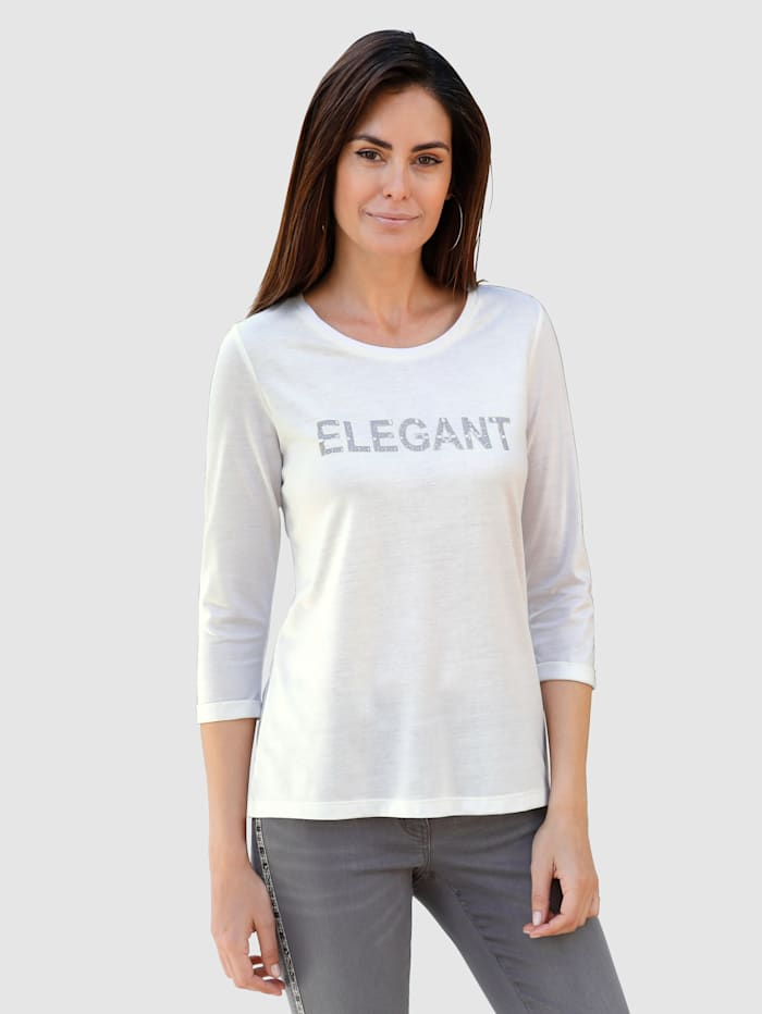 Laura Kent Shirt met opschrift voor, Wolwit