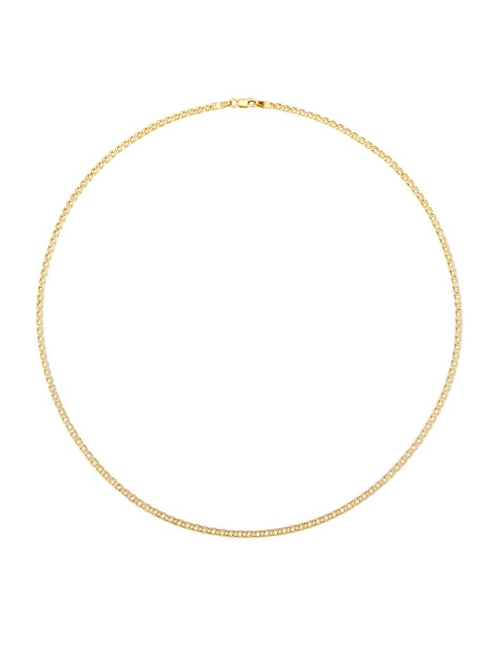Halsband, dubbel pansarlänk, Guldfärgad