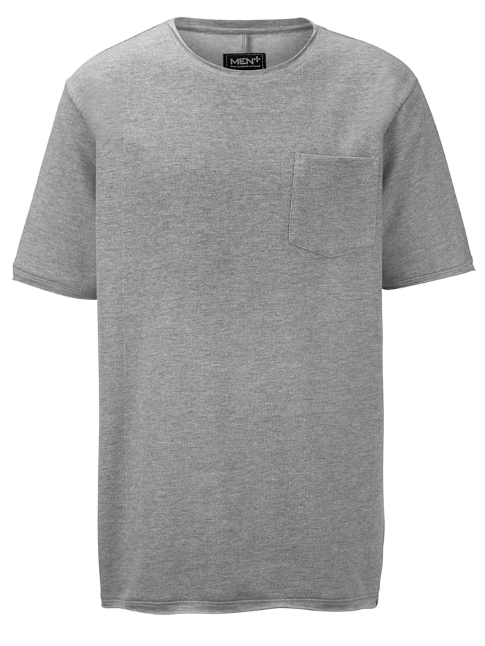 Men Plus Sweat-shirt à manches courtes, Gris