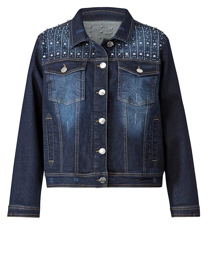 Jeansjacke mit modischen Nietendetails