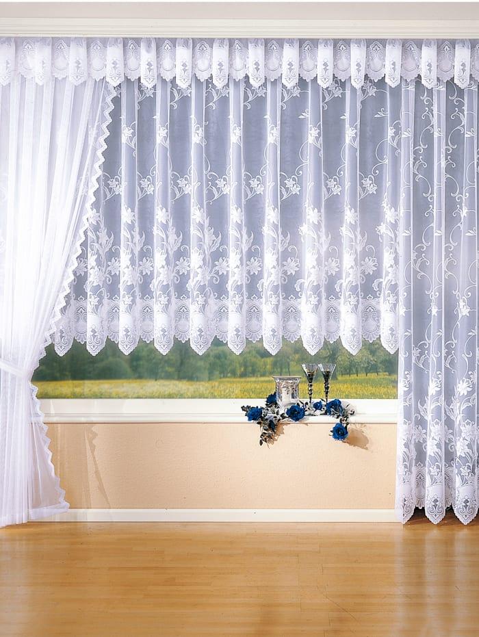 Webschatz Záclona s univerzálnou pásovkou na zavesenie, biela