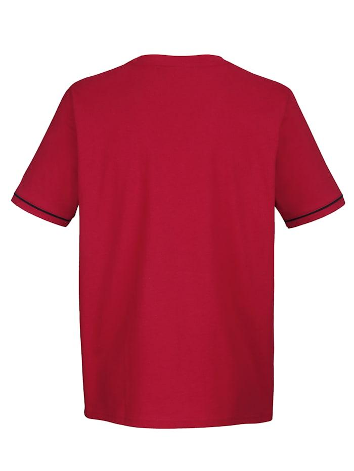T-shirt med kontrasterande passpoal