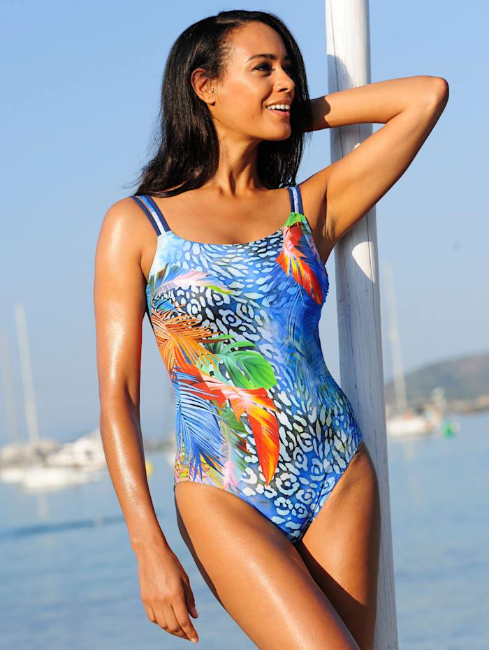 Sunflair Badeanzug mit platziertem Druck, Blau
