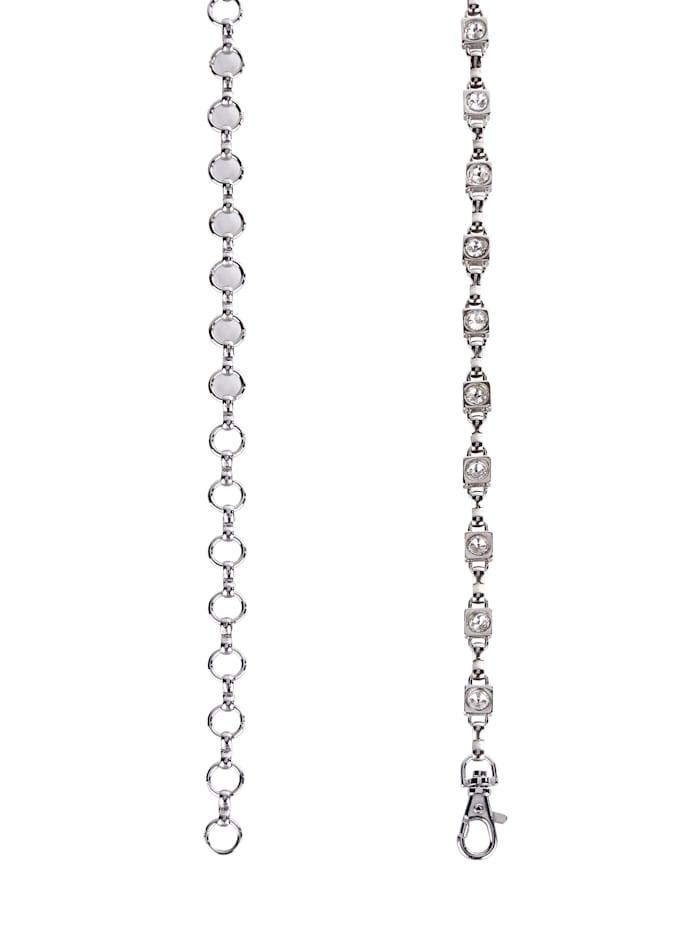 Ceinture chaîne avec pierres de verre raffinées
