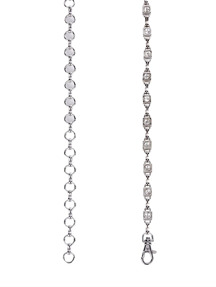 Chain belt with elegant glass stones