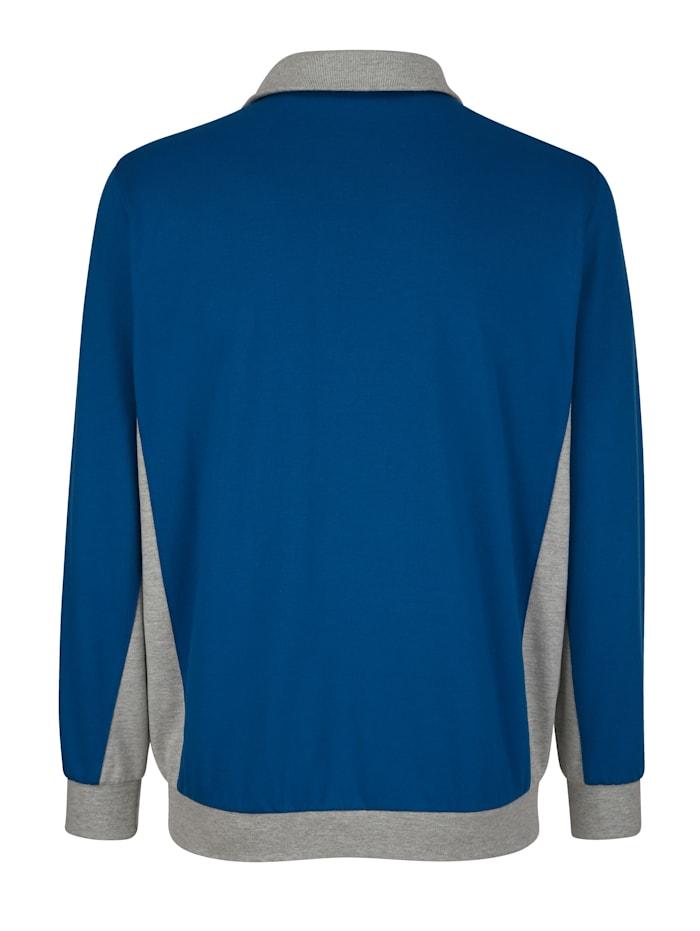 Sweatshirtjacka med kontrasterande detaljer
