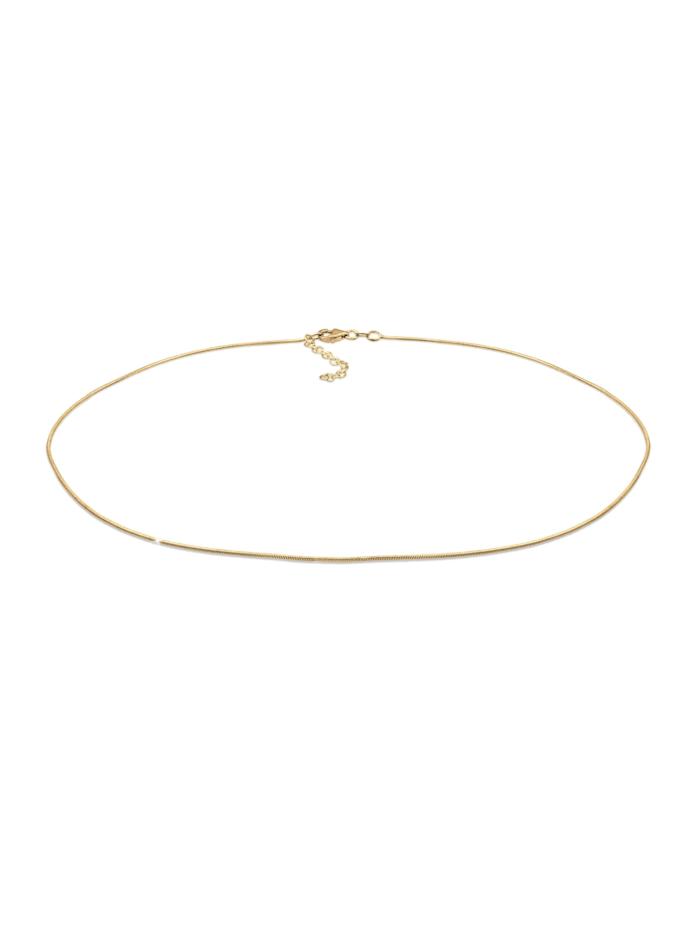 Elli Halskette Choker Schlangenkette Basic 925 Sterling Silber, Gold