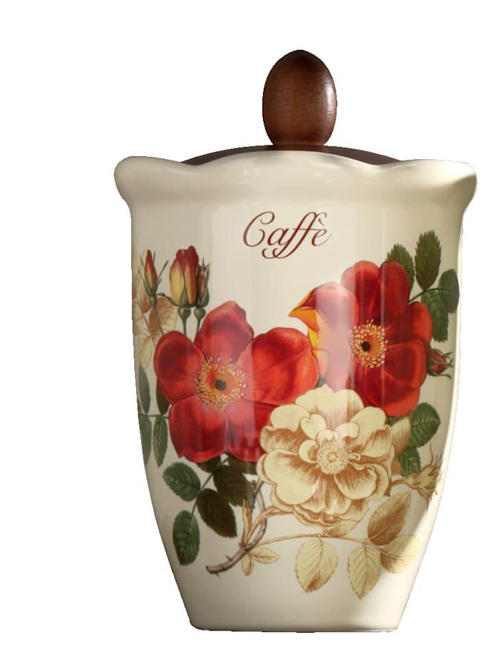 Nuova Ceramica Artisan Nostalgischer Vorratsbehälter für Kaffee 'Orto d´Autunno', mehrfarbig