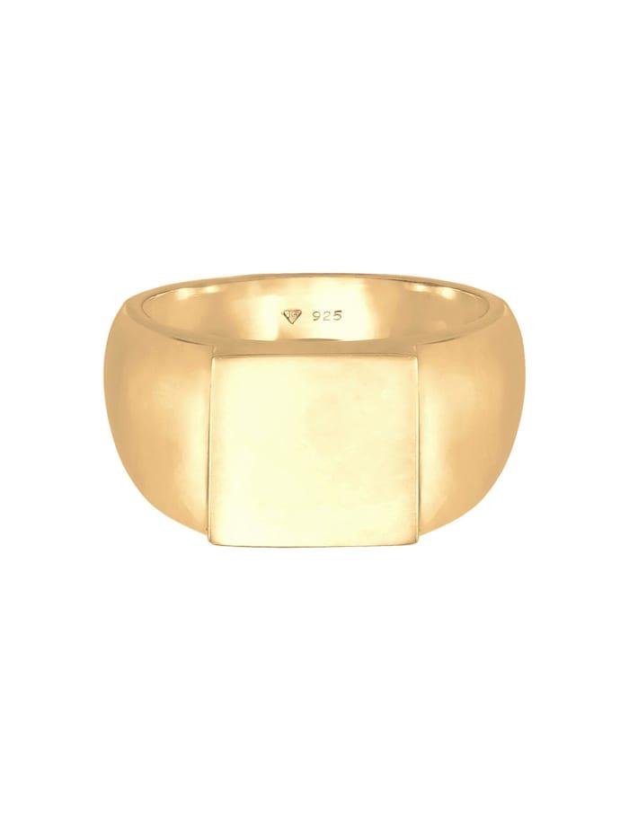 Ring Siegelring Herren Rechteckig Glanz 925 Silber