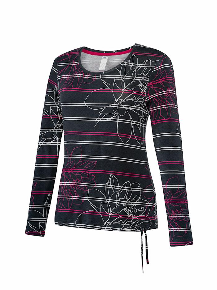 JOY sportswear T-Shirt JANNE, night gestreift