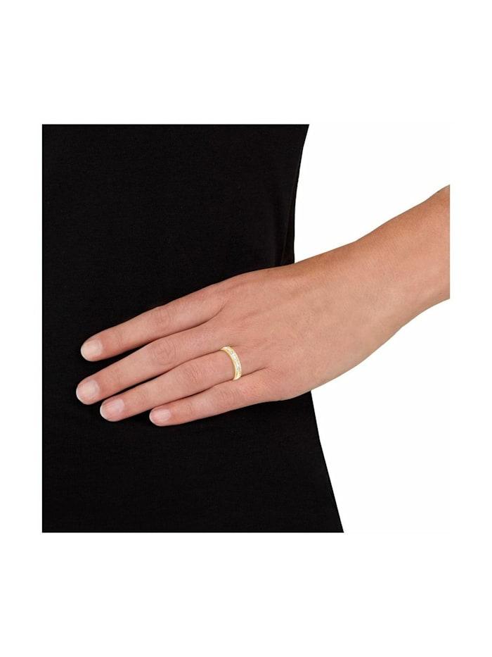 Ring für Damen, Edelstahl, Kristallglas