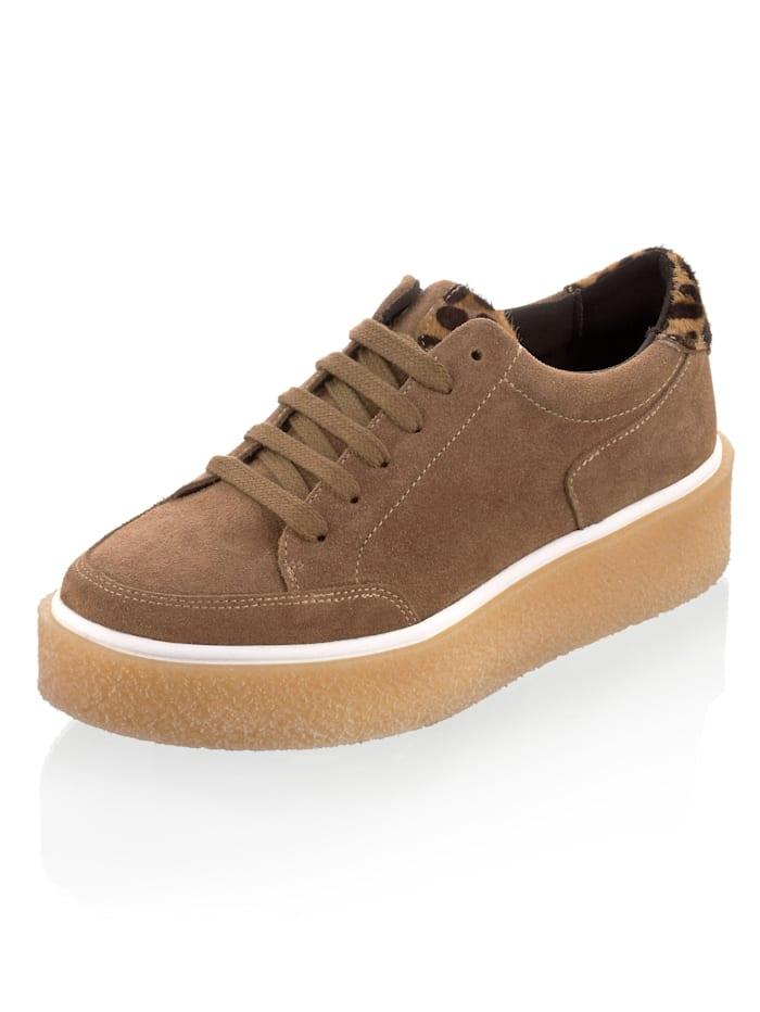 Alba Moda Sneaker mit Rippensohle, Braun
