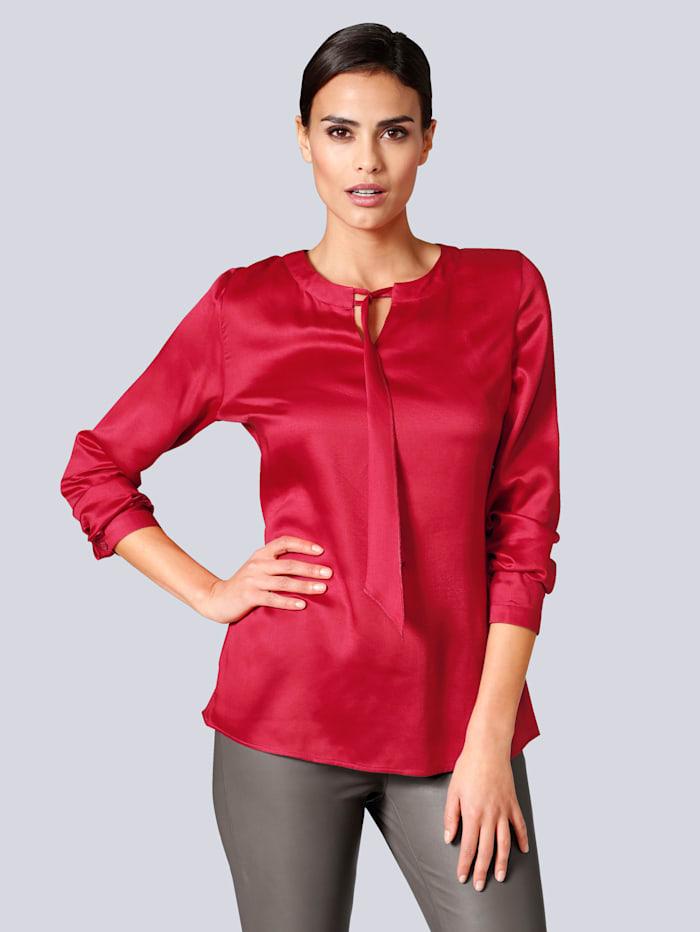 Alba Moda Bluse mit Schluppe, Rot