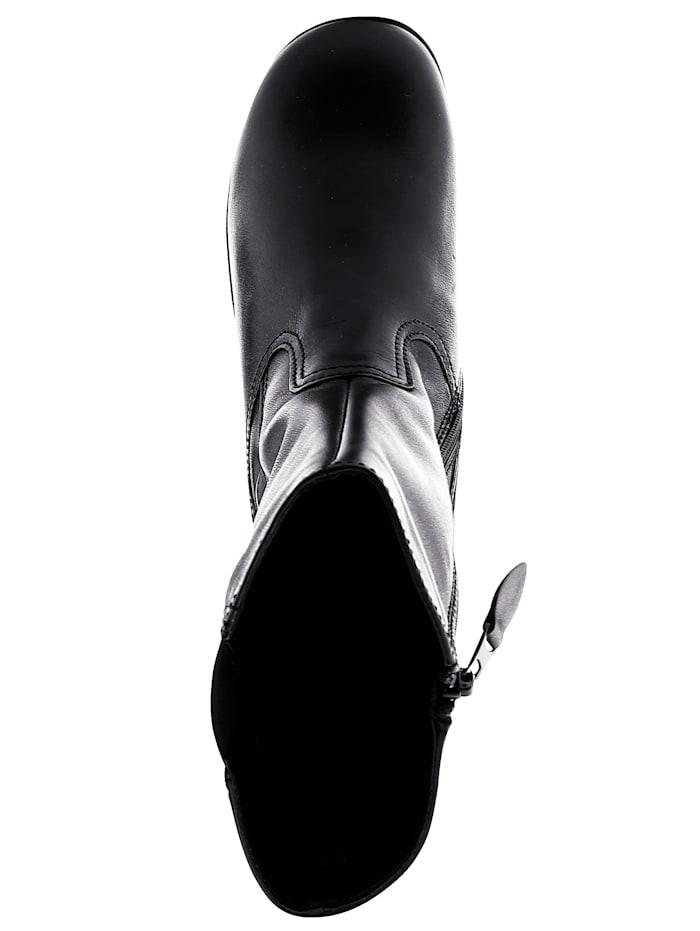 Stiefelette mit breitem Elastikeinsatz