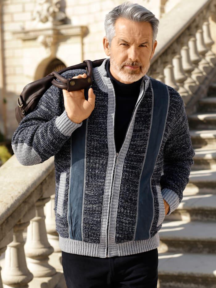 BABISTA Vest met warme fleece voering, Blauw/Grijs