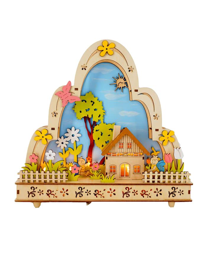 Schwartinsky Led-houtboog met muziek, Multicolor