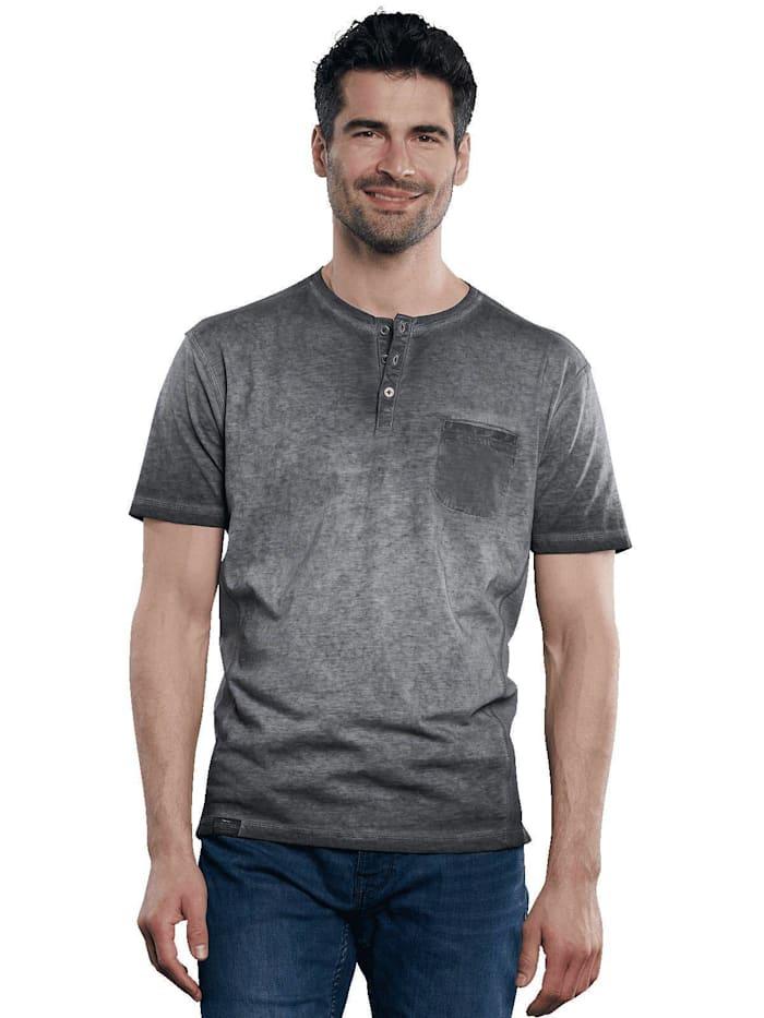 Engbers Modisches Henleyshirt mit besonderer Färbung, Anthrazit