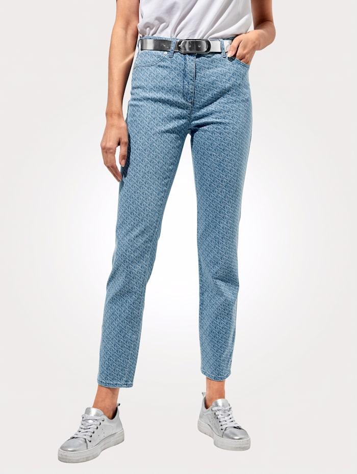 Toni Jeans mit Minimal-Muster, Hellblau
