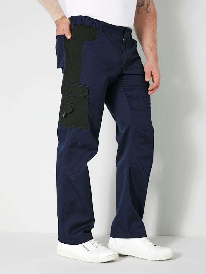 Men Plus Cargohose Spezialschnitt, Marineblau/Schwarz