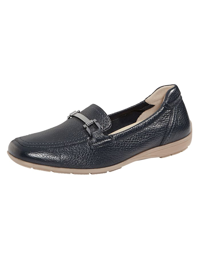 Caprice Moccasins made from leather, Dark Blue