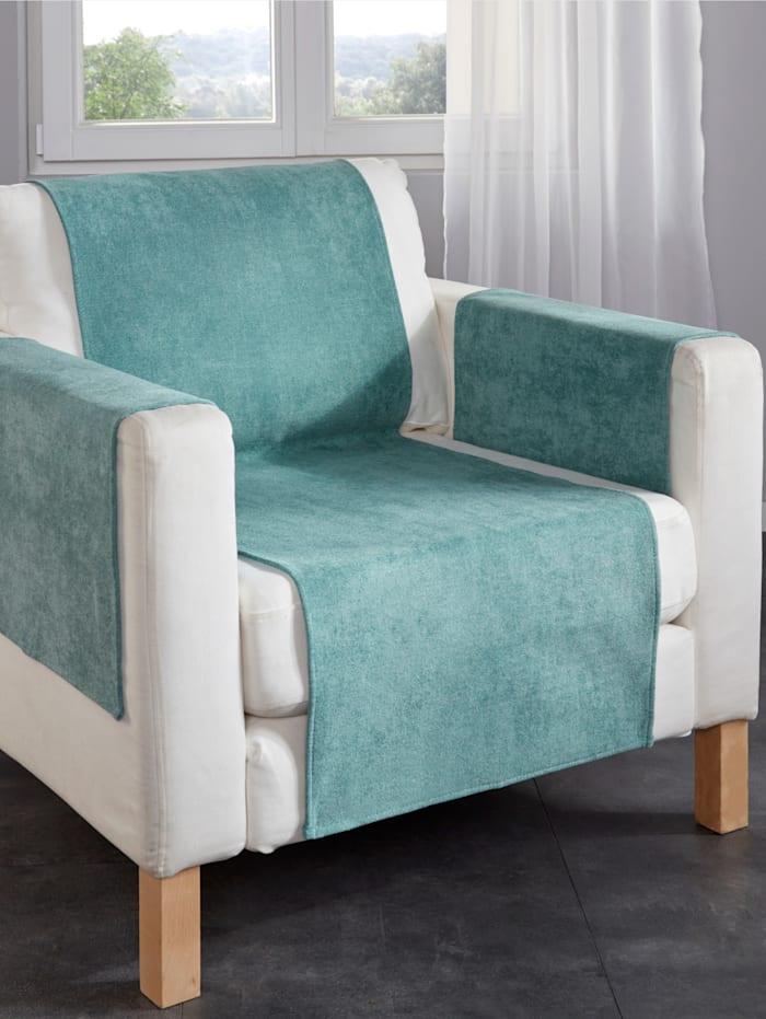 Webschatz Ligne de chemins de canapé et de fauteuil, Bleu