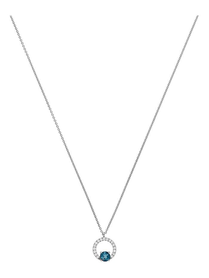 CHRIST GOLD CHRIST Gold Damen-Kette 375er Weißgold 17 Diamant, weißgold