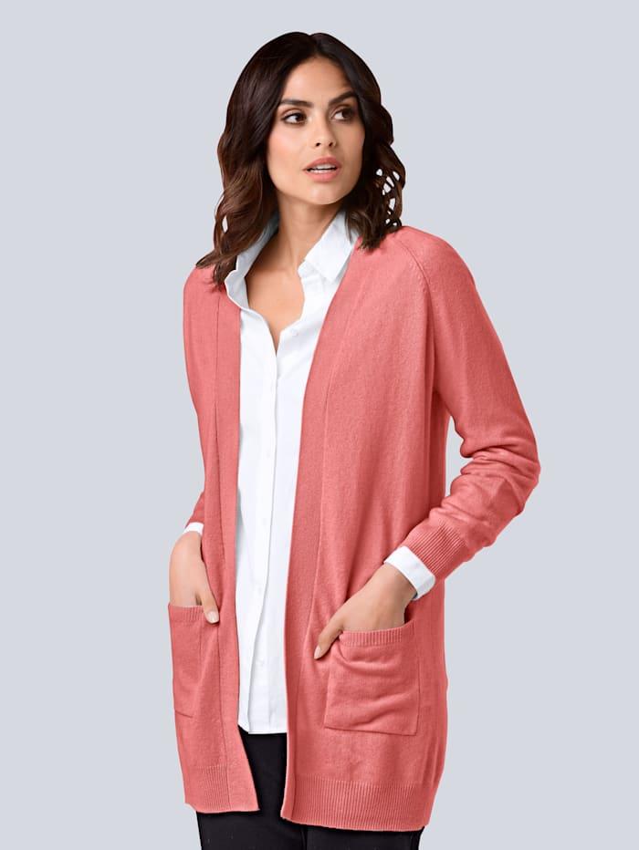 Alba Moda Strickjacke aus hochwertiger reiner Kaschmirqualität, Rosé