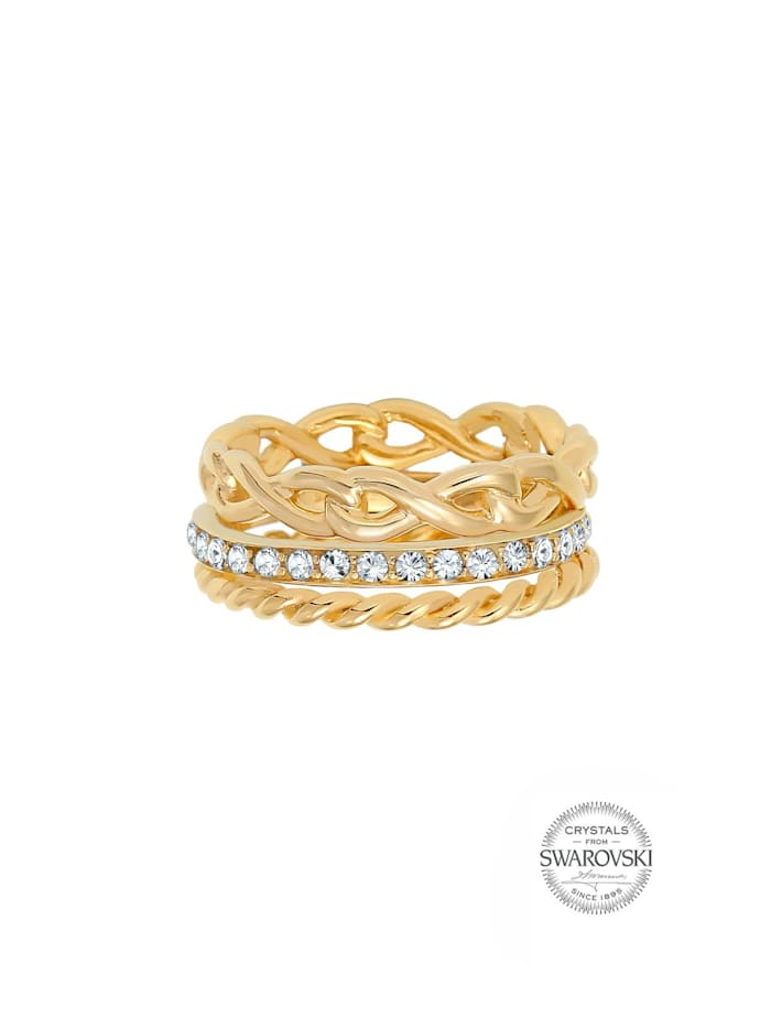 Ring Infinity Bandring Kristalle 925 Silber