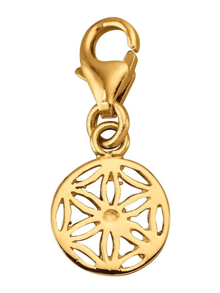 Mandala-Einhänger in Gelbgold 375, Gelbgoldfarben