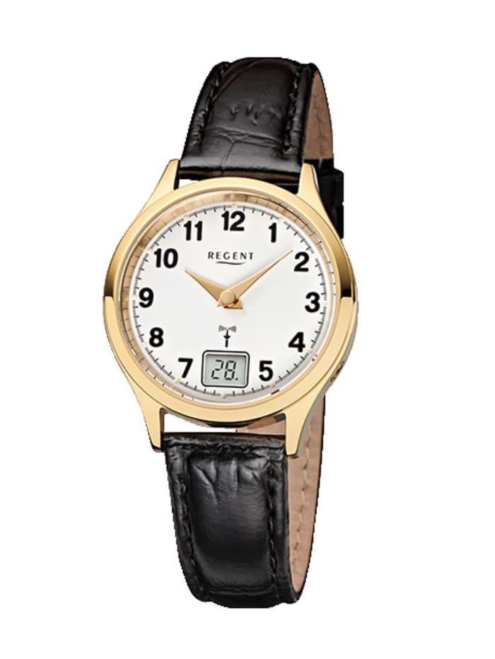Regent Damen-Funk-Uhr 12030074, Schwarz