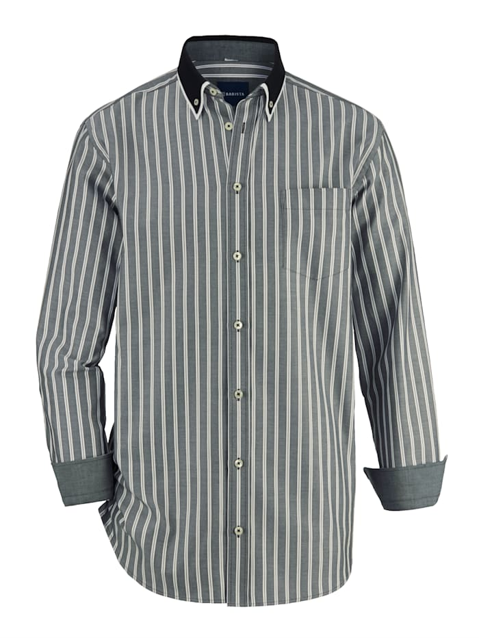 BABISTA Hemd mit Doppelkragen, Schwarz/Weiß