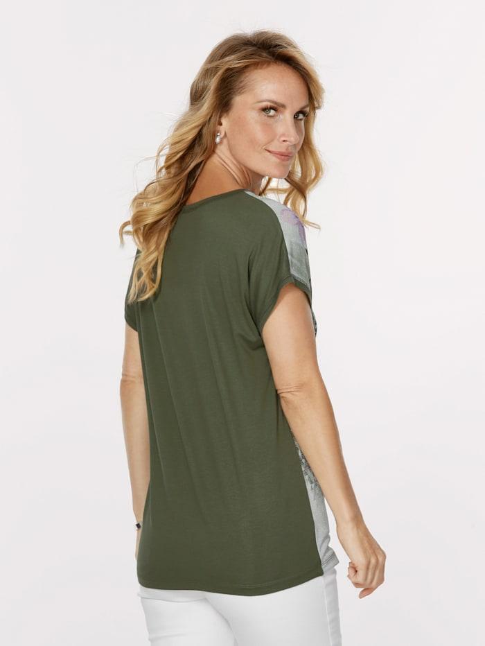 Shirt met glittereffect