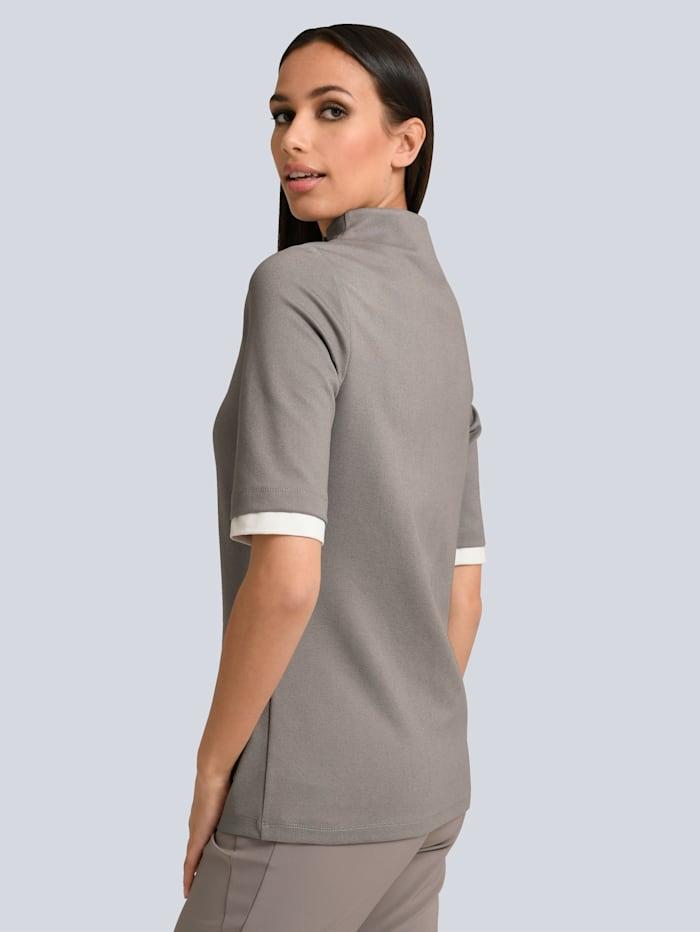 Shirt mit dekorativem Zipper