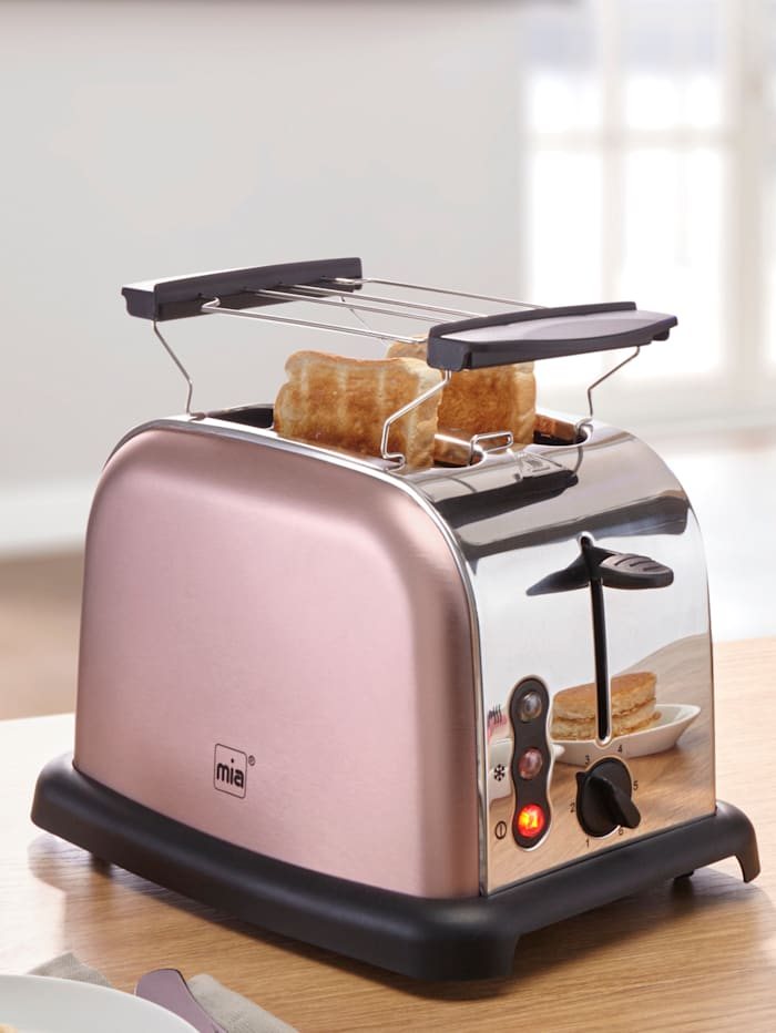 Retro Edelstahl-Doppelschlitz-Toaster TA 4712RG, rosé