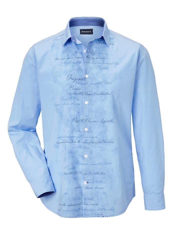 Overhemd met trendy opschrift