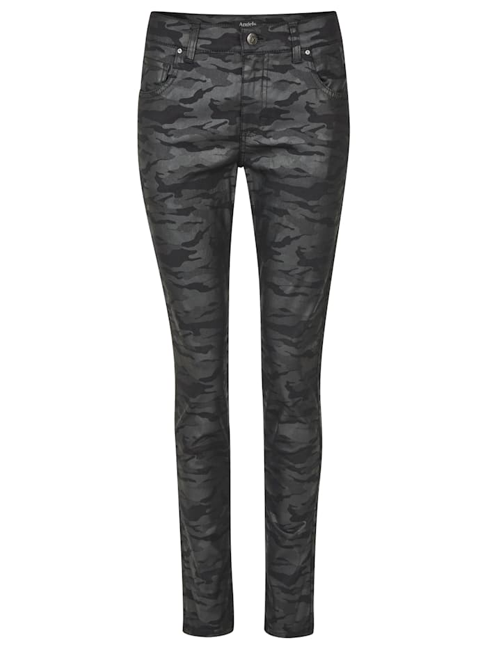 Angels Jeans 'Skinny' mit Camou-Muster, black