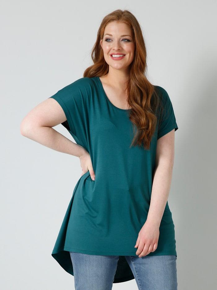 Sara Lindholm T-shirt de coupe plus longue au dos, Émeraude