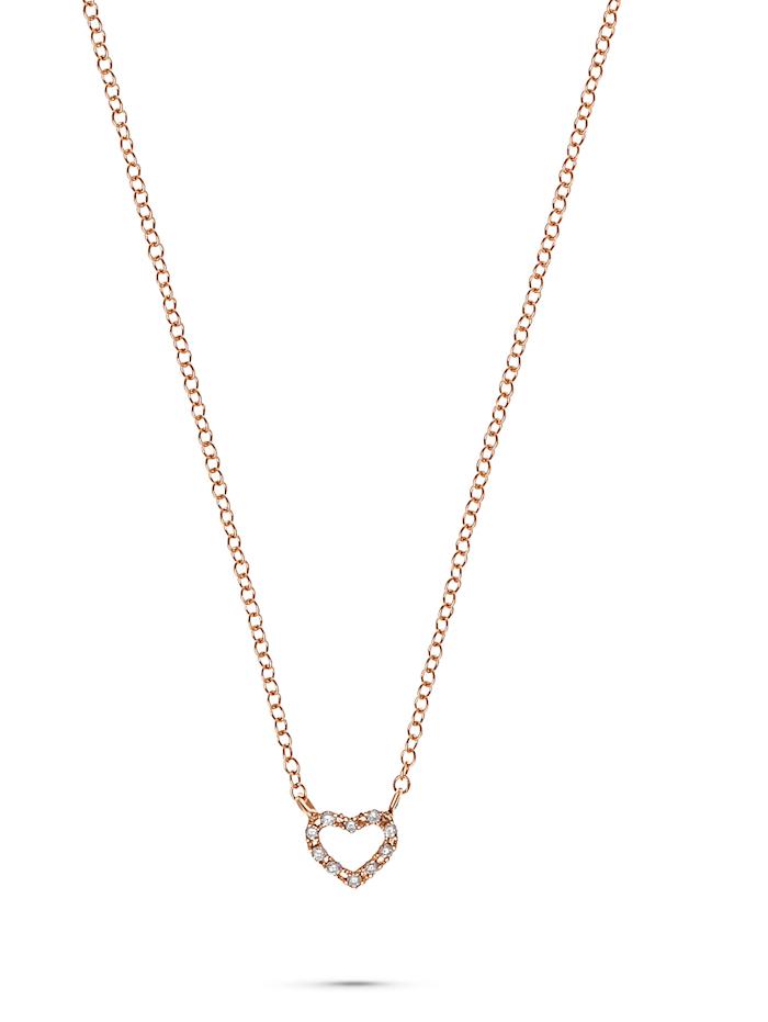 CHRIST C-Collection CHRIST Damen-Kette 375er Roségold 10 Diamant, roségold