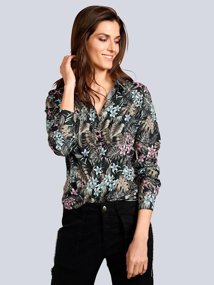 JETTE JOOP Bluse im modischen Blumendruck, Multicolor