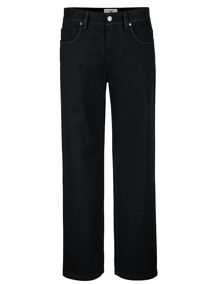 Roger Kent Pantalon 5 poches d'aspect laine, Anthracite