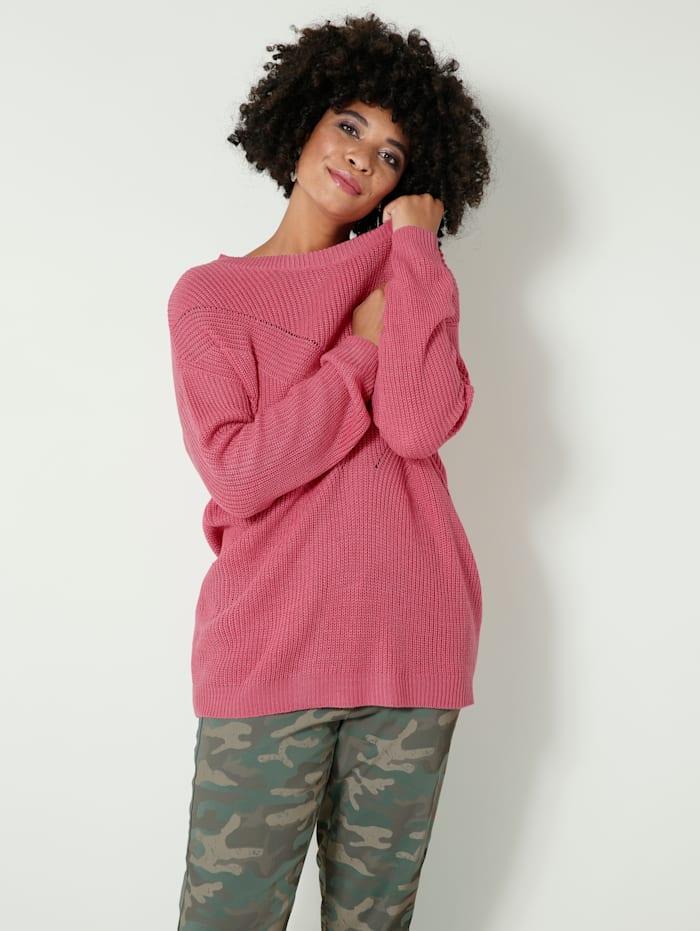 Angel of Style Pullover mit überschnittenen Schultern, Pink