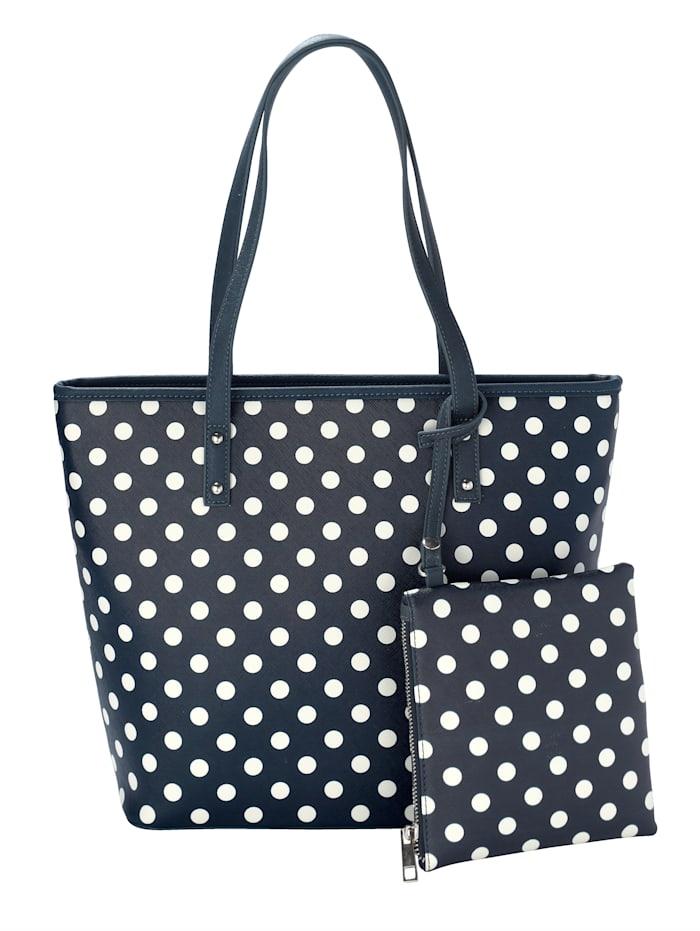 Prickig handväska med matchande sminkväska 2 delar