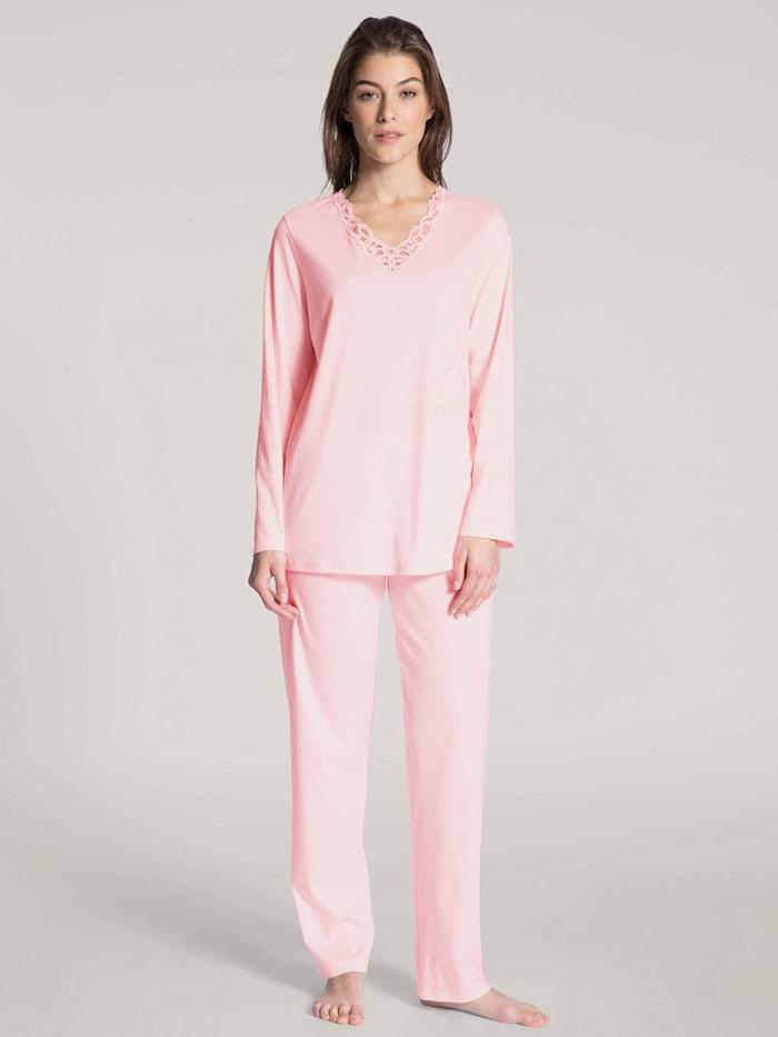 Calida Pyjama lang Made in Europe, barley rose