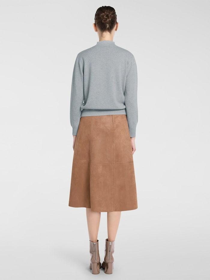 Pullover mit anliegendem Stehkragen